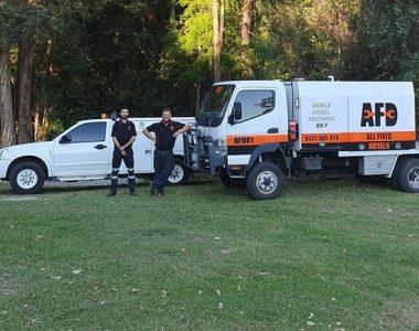 all fixed diesel mechanics sunshine coast standing beside truck